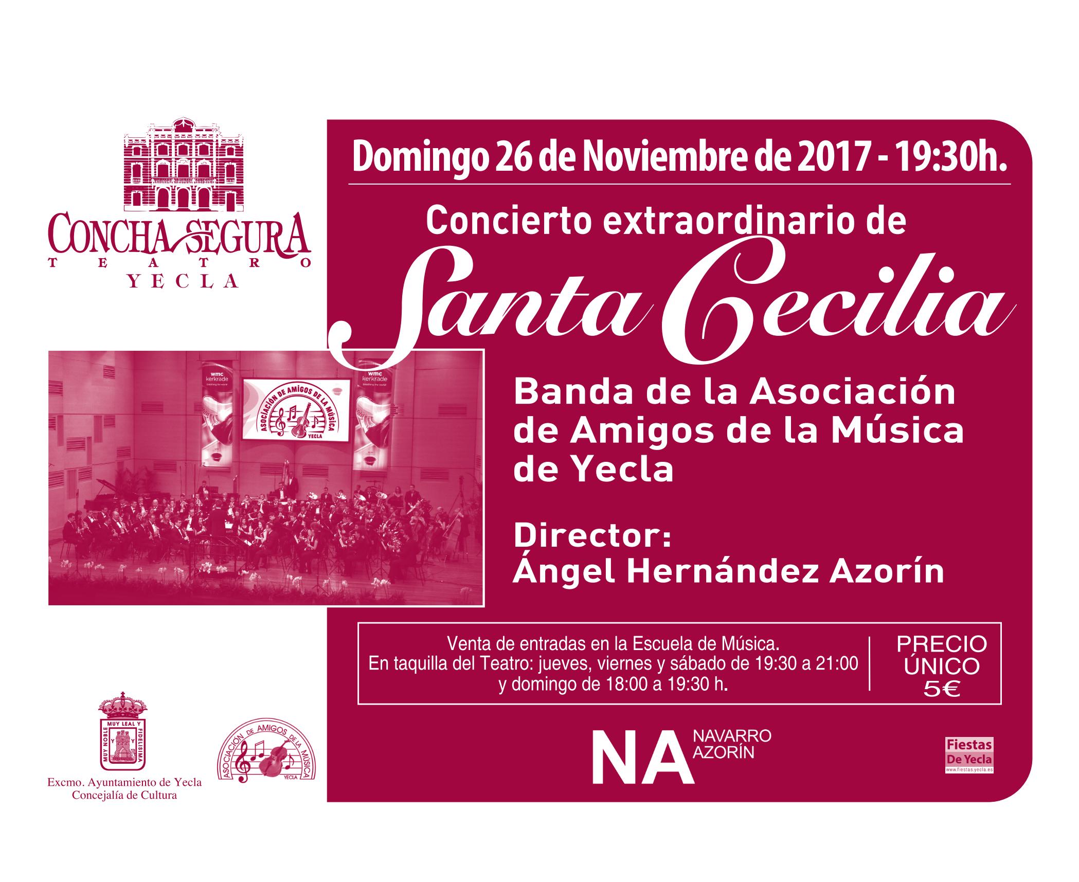Concierto Extraordinario de Santa Cecilia – Asociación de Amigos de la Música de Yecla