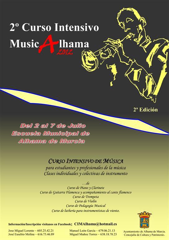 Cartel curso MusicAlhama 2012